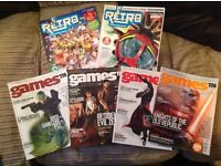 Games TM issues 1 to 4 and retro mag volume 2 and 3