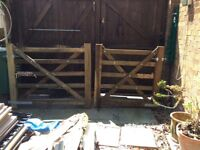 New wooden drive gates Gates 9 and half foot approx opening size.