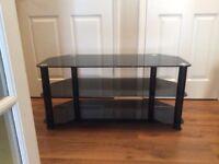 Black glass corner TV unit