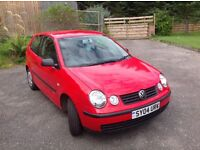 VW Polo '04 Reg. 83855 miles. Red.