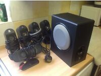 Surround sound speakers in very good condition hardly used