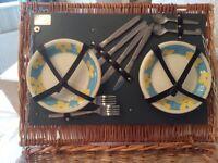 New Antler Wicker Picnic Basket