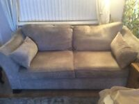 Three seater sofa from Furniture Village. Great condition 18 months old. Fawn colour.