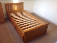 Single Wooden Bed Frame.