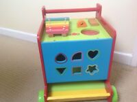 Mothercare wooden activity push along