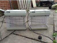 Pair of electric fly zappers - kitchens, catering, animals, farm buildings