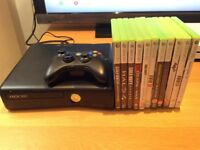 Xbox 360 slim 250gb in excellent condition with 11 games