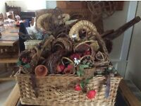 Wicker baskets for craft work to include picnic hamper