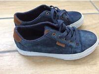 Boys girls VANS trainer shoe UK size 2 excellent condition denim Swansea