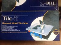 Tile Cutter. Electric. Diamond tipped wheel. 550w. VGC.