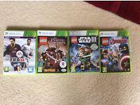 XBOX 360 games lego Star Wars 3, lego pirates of the Caribbean, Lego marvel avengers & FIFA 14