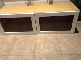 2 X IKEA BESTA cabinets