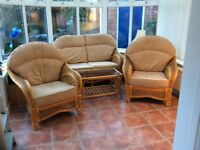 Conservatory furniture four pieces .