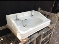 Royal Doulton ideal white vintage antique large washbasin
