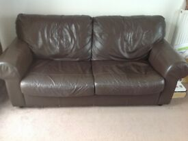 Second hand leather sofa