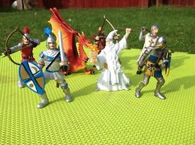 Knights, Dragons, Action playing figures
