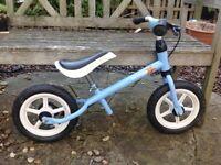 Blue Kettler balance bike in good condition
