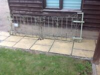 Pair of vintage iron gates