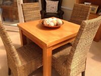 Next Cambridge Oak Square Dining Table & Chairs