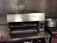 Gas Grill with hot plate
