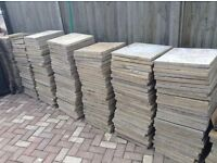 Job Lot Paving Stones Red Yellow White Bargain Clearance building garden patio!!!