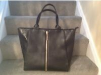 Ladies large black m&s bag