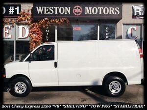 2011 Chevrolet Express 2500 *V8 *NO GLASS *SHELVING *TOW PKG *ST