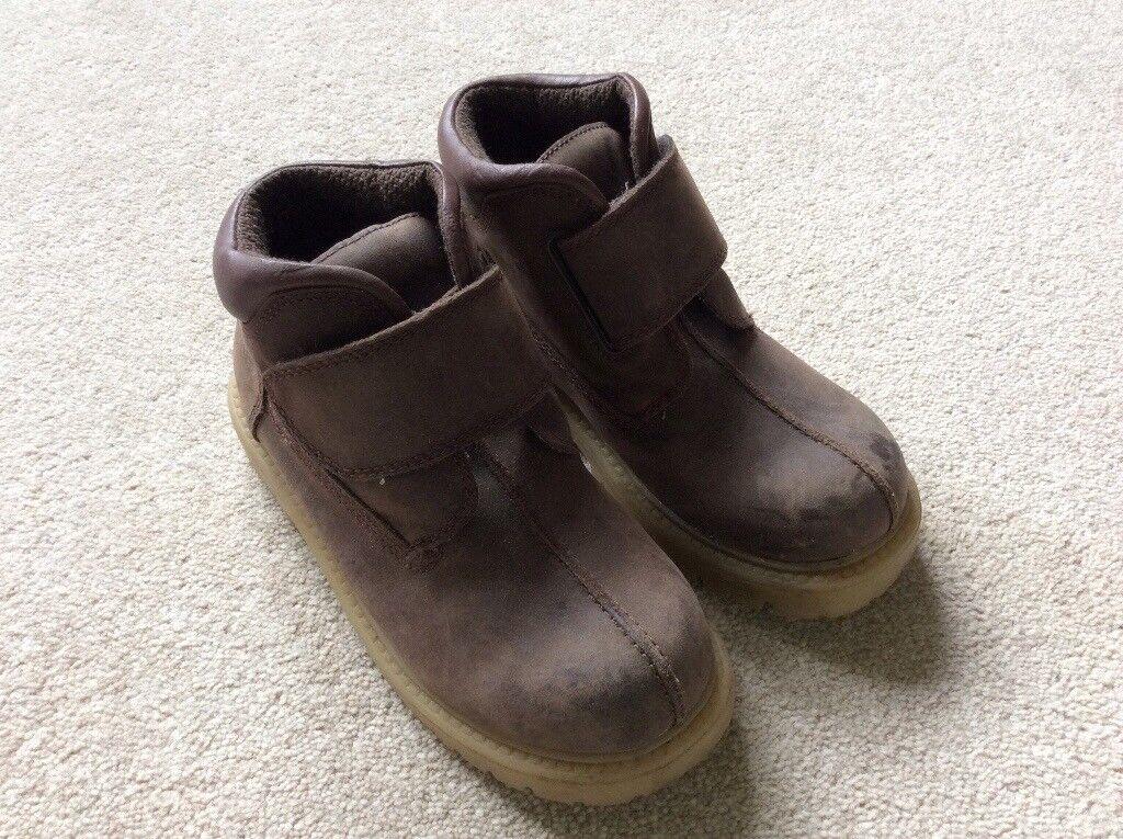 Boys Brown Nubuck Boots size 11
