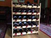 Wine Rack for 25 Bottles in Solid Oak - Very Attractive