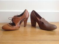 Two pairs of Ladies Real Leather Shoes UK6.5 / Eur40
