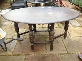 Antique gate leg table ideal up cycle