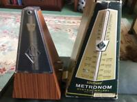 Wittner vintage metronome with bell.