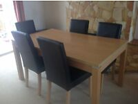 Dining Table, can sit up to 8, good condition, solid an heavy (chairs not included)