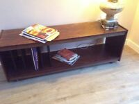 Vintage rose wood LP storage table originally from Harrods
