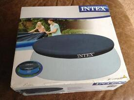 NEW IN UNOPENED BOX INTEX 10' EASY SET POOL COVER. SWIMMING POOL.