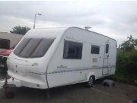 Elddis Typhoon XL 1999 with Bradcot Awning priced at £1950 Roller water carrier and waste incl.