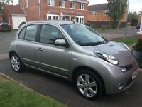 Nissan Micra 1.2 16v N-Tec, 2010, silver. Only one previous owner
