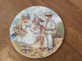 The Donkey Ride plate from the Seaside Memories range by Compton and Woodhouse