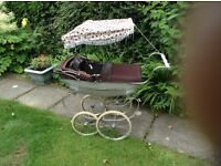 Silver Cross Child's Pram with accessories including sun canopy & Bag