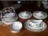 Royal Doulton 'Larchmont' dinner service with coffee cups, jug and bowl