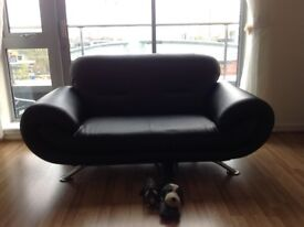 A Black 2Seather sofa