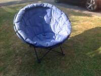 A pair of Moon camping chairs