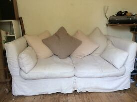 Tetrad 3 seater sofa, armchair and footstool. Excellent quality and very comfy.