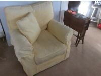 Large 3 piece light yellow suite