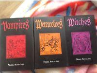 Set of three books, Nigel suckling witches, werewolves, vampires