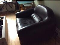 Habitat leather love seats