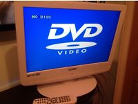 """Lovely white Technika 19"""" TV/DVD combi, HD ready, digital freeview, excellent condition."""