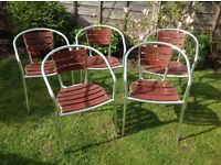 5 outside chairs