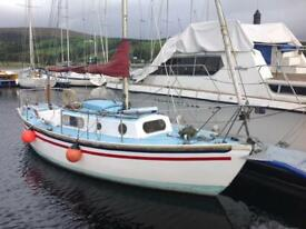 FOR SALE 23ft Arden Four Long Keel Sailboat