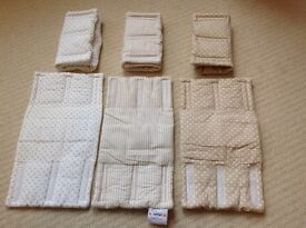 The Original Bumpsters Beige & White Cot Bar Bumpers